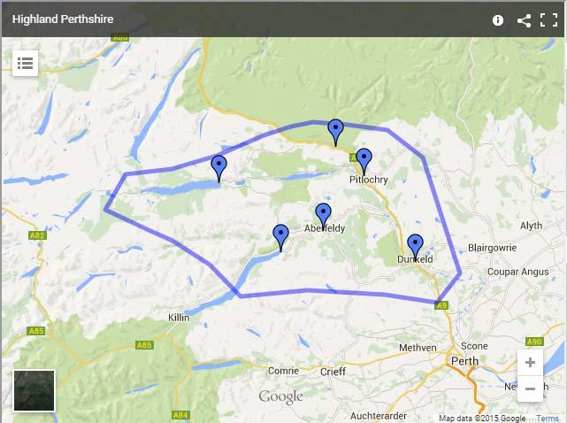 Highland Perthshire map