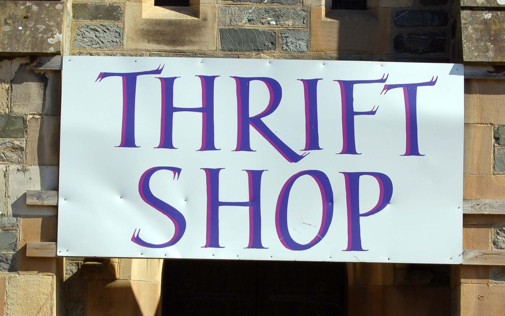 Parents and 6th years — we need thrift-shop volunteers.