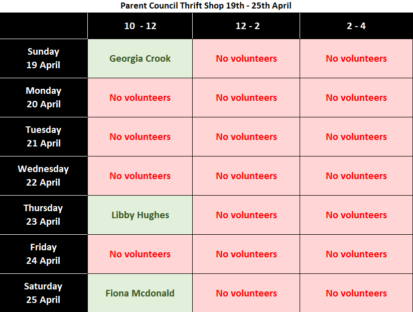 Can you do one of the shifts on this rota? Go on!